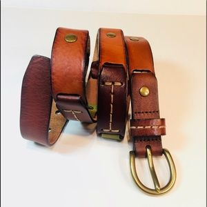 "Fossil 1 ""Fall Colored All Leather Belt"